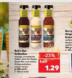 Kaufland ab 13.04 2 Bull's Eye grill sossen 235ml angebot + coupon  stk. 79cent