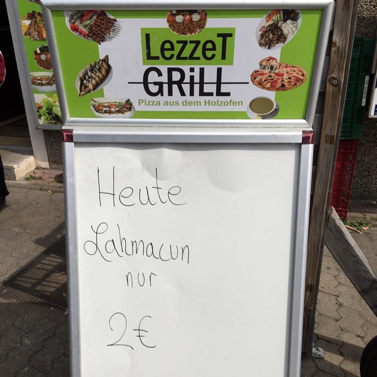 Lokal Bruchsal: Lahmacun 2€ bei Lezzet Grill