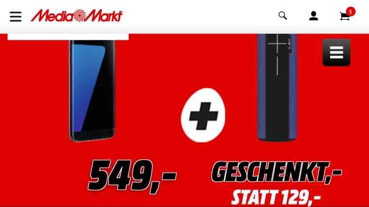 Samsung S7 Edge und UE Boom 2 für 549 Euro - Günstiger Preis durch Rücksendung des UE Boom 2?