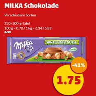 [Penny] Milka Schokolade versch. Sorten je 250-300g für 1,75€