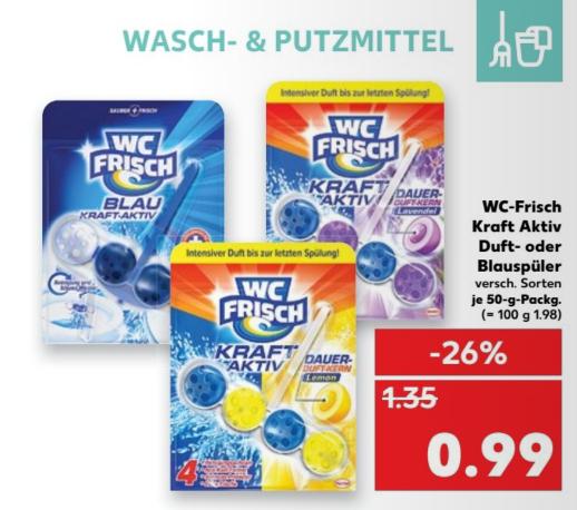 [lokal Kaufland Kiel] WC-Frisch Kraft Aktiv 13.04-19.04.2017