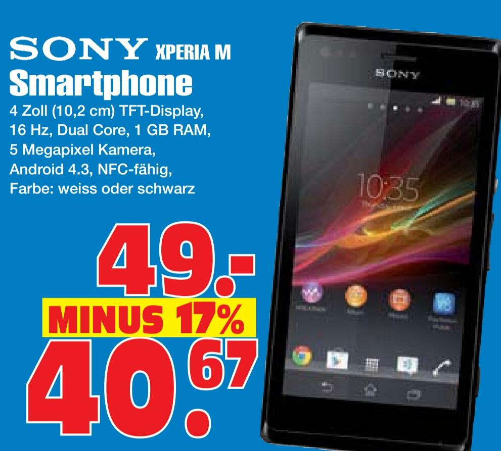 Sony Xperia M für 40,67€ lokal Gelsenkirchen Radiomarkt