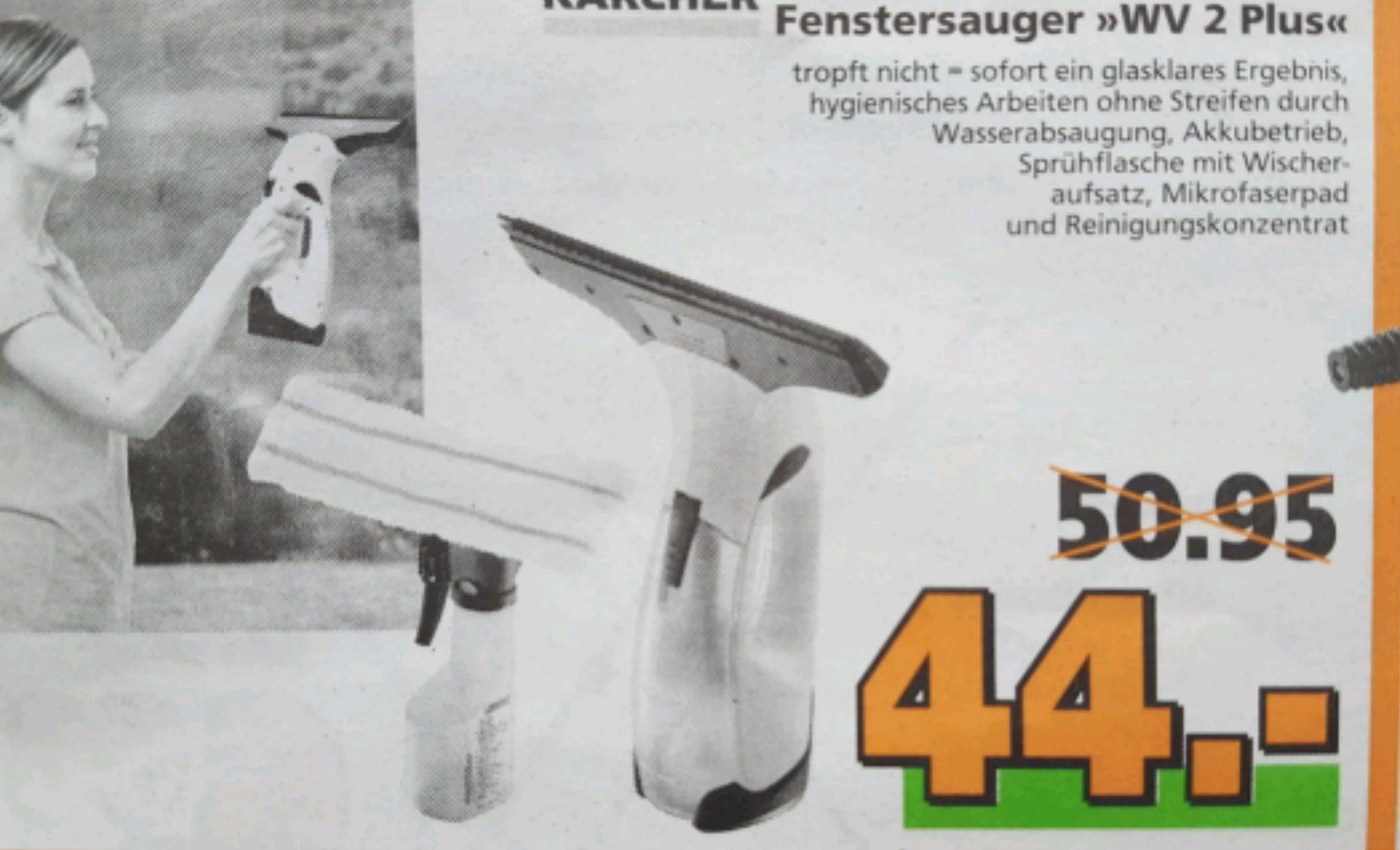 """Kärcher Fenstersauger """"WV 2 Plus"""" für 44€"""