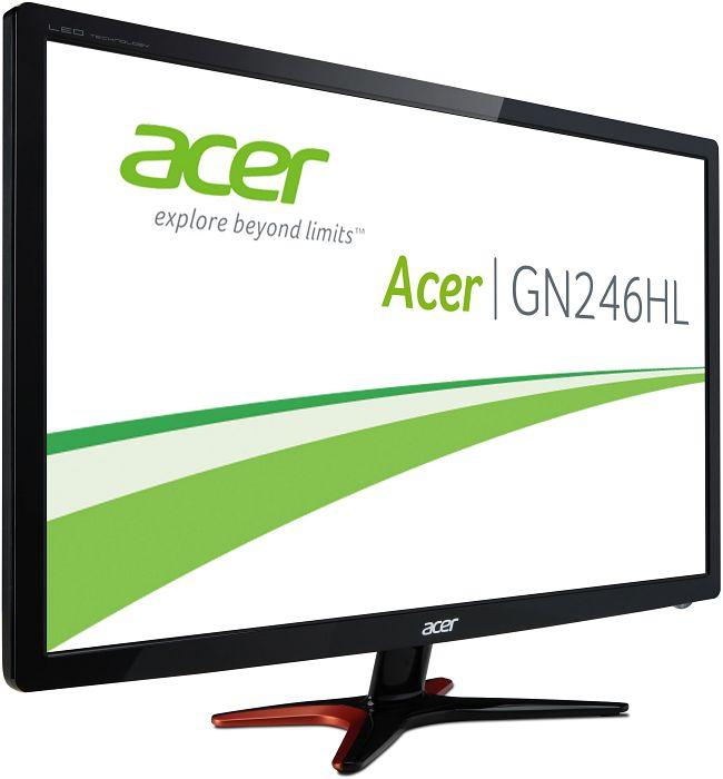 Acer GN246HLBbid Monitor (24'' FHD TN 3D-Vision, 144Hz, 1ms, 350cd/m², HDMI + DVI + VGA, VESA, EEK B) für 199€ [Amazon]