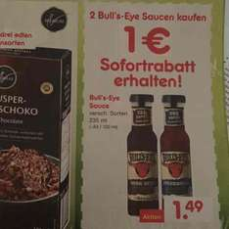 Netto Bull's-Eye Sauce: 2 kaufen 1 Euro Rabatt