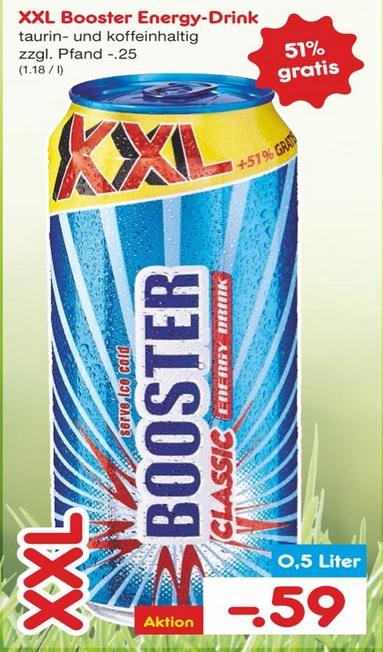 Netto Marken-Discount: Booster XXL-Dose 0,5L Energy-Drink für 59 Cent+Pfand