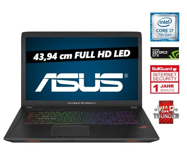 "[one.de] ASUS Gaming Notebook GL753VD-GC009, 17,3"", Full HD, NVIDIA GeForce GTX 1050, Intel® CoreTM i7-7700HQ Prozessor (2,80 GHz), 8GB RAM"