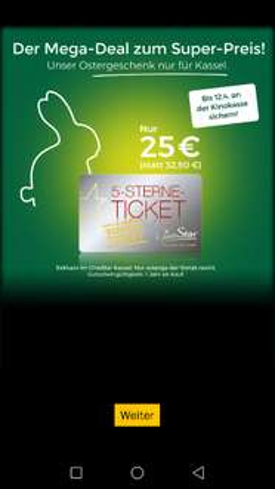 Cinestar 5 Sterne Ticket Lokal Kassel