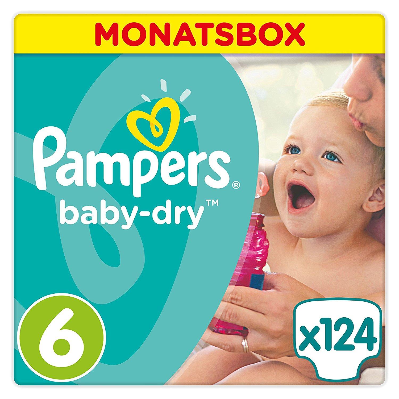 [@Dealclub] 124x Pampers Baby Dry Windeln Gr. 6, ab 15 kg [+3% shoop]