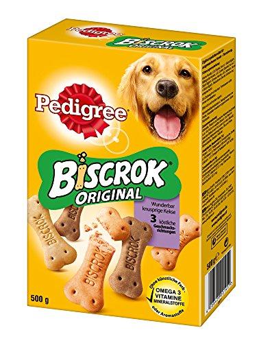 Pedigree Biscrok Hundesnacks in 3 Geschmacksrichtungen, 6 Packungen (6 x 500 g) für 7,91€ @Amazon.de (Blitzangebot) [PRIME]