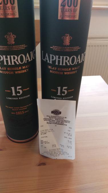 Laphroaig 15 Jahre Limited Edition Single Malt Whisky für 55,99€ bei Globus Dutenhofen