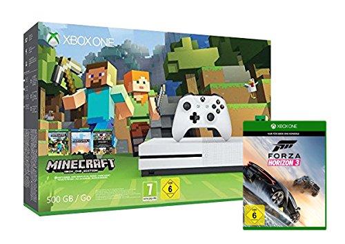 Xbox One S 500GB Konsole Minecraft Bundle + Forza Horizon 3 (Standard Edition) für 249€ (Amazon.de Blitzangebot)