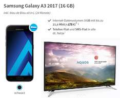 "3GB LTE SMS/Telefon-Flat (O2 Netz) + Samsung Galaxy A3 2017 + 32"" Sharp Full-HD LED TV"