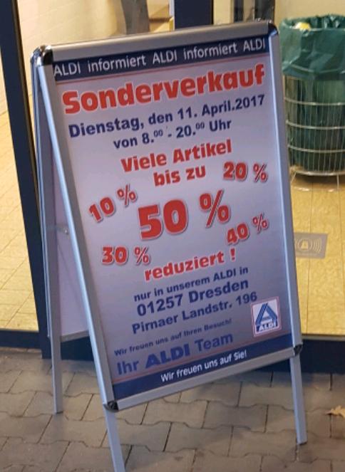 ALDI Sonderverkauf in Dresden