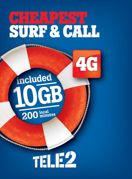 Alle Jahre wieder: [Kroatien Tele2] ~7,40€ - Tele2 Prepaid 10GB Internet (LTE 75/25Mbit) - 200 min innerhalb Kroatiens