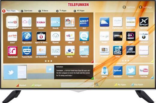 Telefunken A43U546A TV (43'' UHD Edge-lit, 1500Hz [interpol.], 350cd/m², 2x HDMI + VGA + Scart, 2x USB, CI+, LAN + WLAN mit Smart TV, VESA, EEK A+) ab 286,50€ [Conrad]