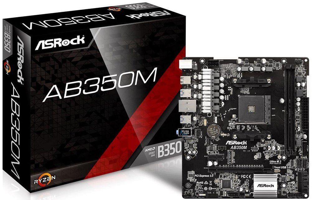 """ASRock™ - µATX-Mainboard """"AB350M"""" (Sockel AM4) ab €61,94 [@Rakuten.de]"""