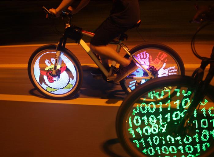 [GearBest EU] Wasserdichte DIY programmierbare LED Felgen / Speichen Fahrradbeleuchtung