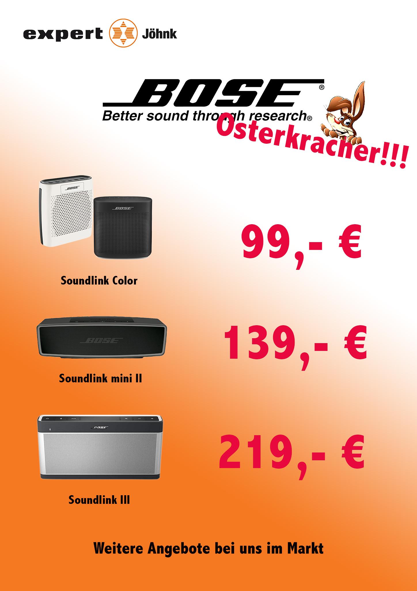 [ Lokal Eckernförde Expert Jöhnk ] Bose Soundlink Mini II / Soundlink 3 /  Soundlink Color