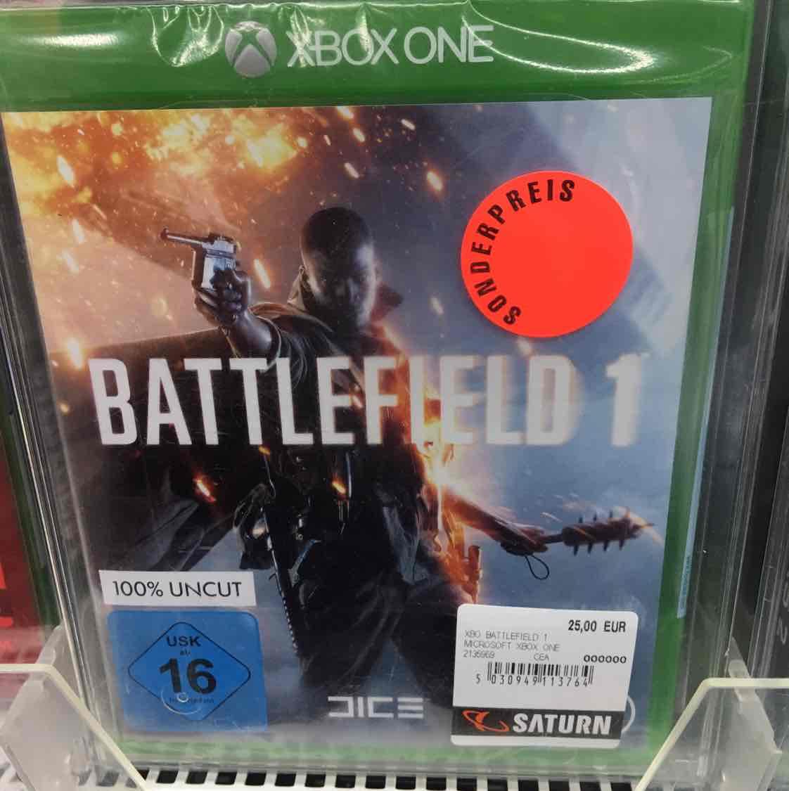 (lokal) the last guardian 25 € Battlefield 1 (XBOX1) 25 €