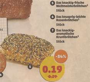 [Penny ab 18.04.] Weltmeisterbrötchen für 0,19€