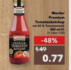 Kaufland ab 20.04 Werder Tomatenketchup premium 450ml