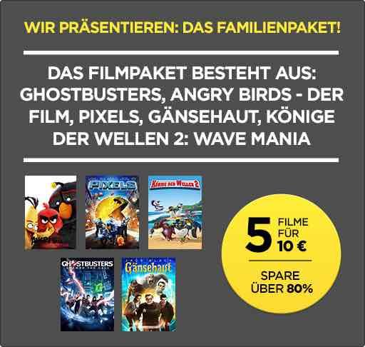 5 HD-Kauf-Filme für 10.- bei Wuaki