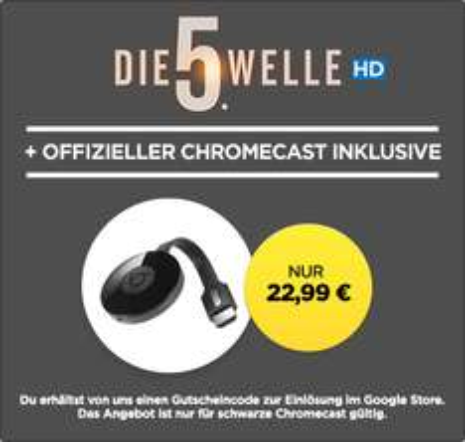 Chromecast 2 + »Die 5. Welle« in HD für 22,99€ bei Wuaki