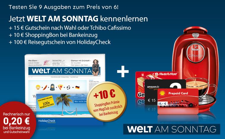 Wams 9 Ausgaben mit TCHIBO Kapselmaschine und 10€ ShoppingBon