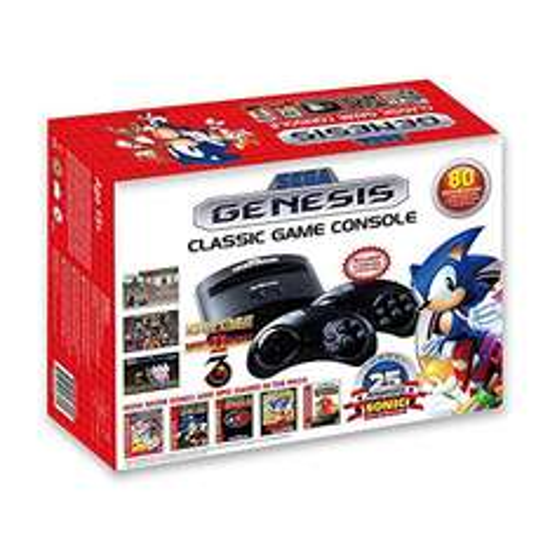 Sega Retro-Klassik Spielekonsole inklusive 80 Spiele anthrazit, jetzt 25% reduziert.