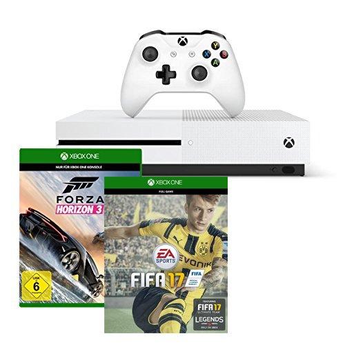 Xbox One S 500GB Konsole - FIFA 17 Bundle + Forza Horizon 3 - Standard Edition 236€