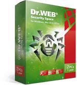 Dr.Web Security Space+Freier Schutz für Mobilgeräte! 2 Jahr