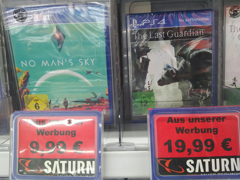 No Man's Sky 9,99€ / The Last Guardian 19,99€ [Lokal Saturn Spandau Arcaden]