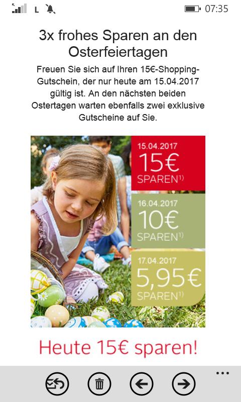nur heute[@ otto] 15€ Rabatt ab 30€MBW Bestandskunden