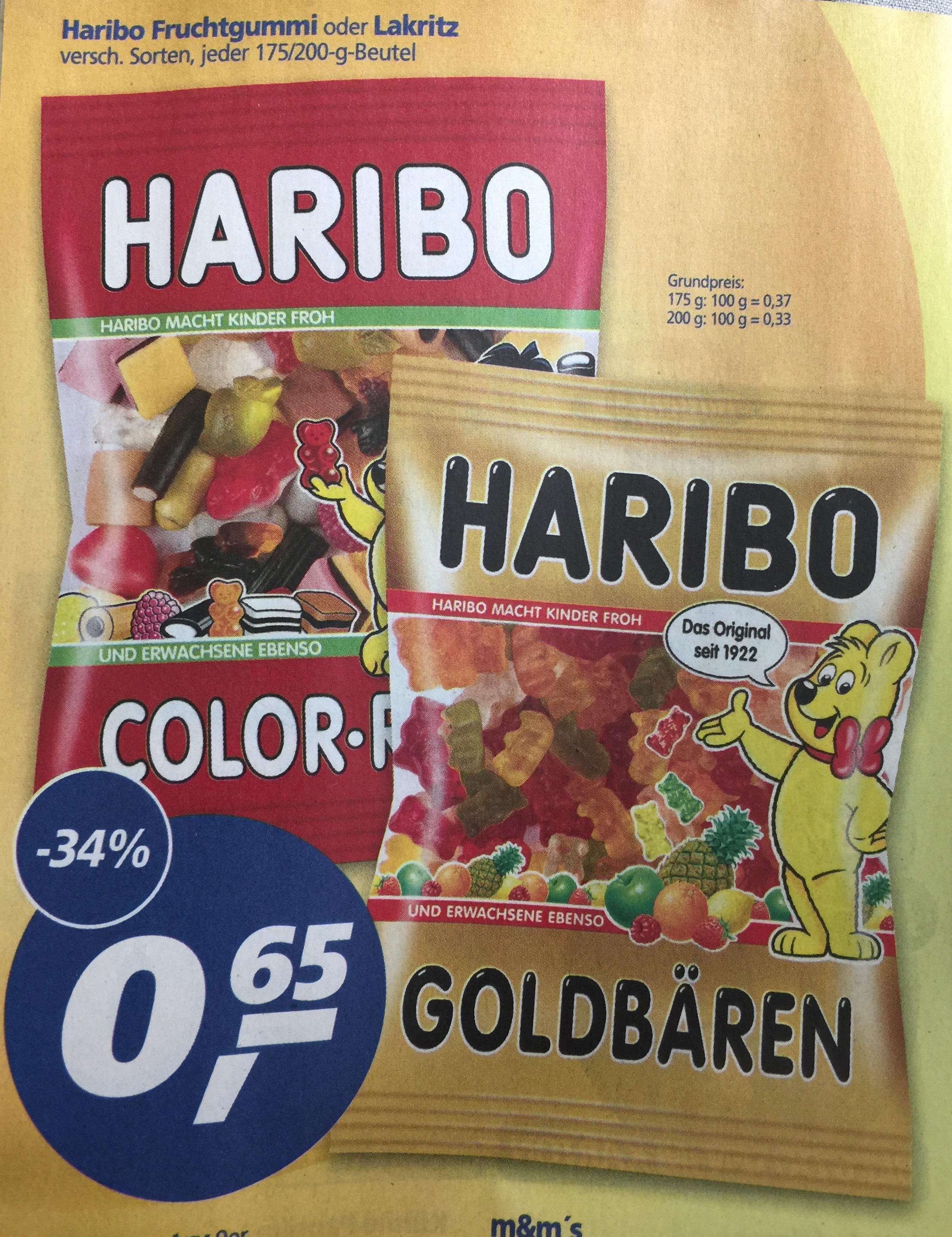 Haribo verschiedene Sorten Fruchtgummi für 0,65€ [Real]