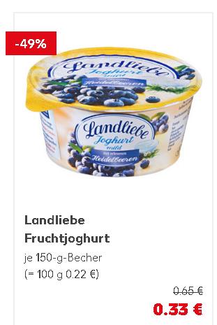 [Kaufland bundesweit?] 6x Landliebe Joghurt mild ab 0,98€