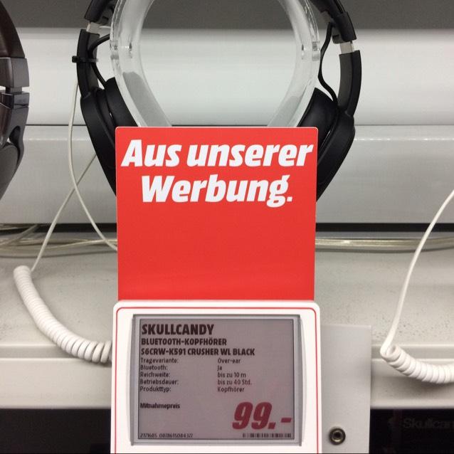 Bluetooth Kopfhörer Skullcandy Crusher von 150€ auf 99€ reduziert