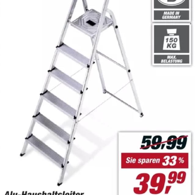[Toom] Hailo 6 Stufen Leiter für 39,99