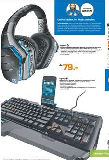 [Lokal Saturn Bremen ab Dienstag] Logitech G933 Artemis Spectrum Kabelloses 7.1 Gaming Headset oder Logitech G910 Orion Spectrum RGB Mechanical Gaming Keyboard für je 79,-€