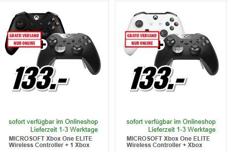 [Mediamarkt Österreich] MICROSOFT Xbox One ELITE Wireless Controller + Xbox One Wireless Controller New weiß oder Schwarz für je 133,-€