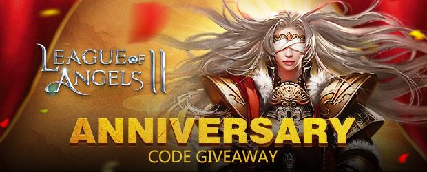 League of Angels II Anniversary Code Giveaway