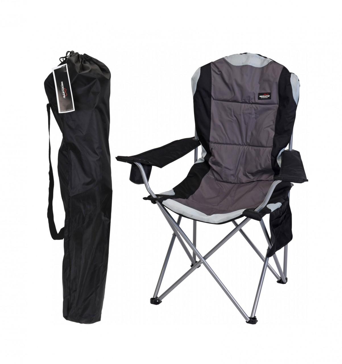 Komfort Klappstuhl Campingstuhl Angelstuhl mit Transporttasche