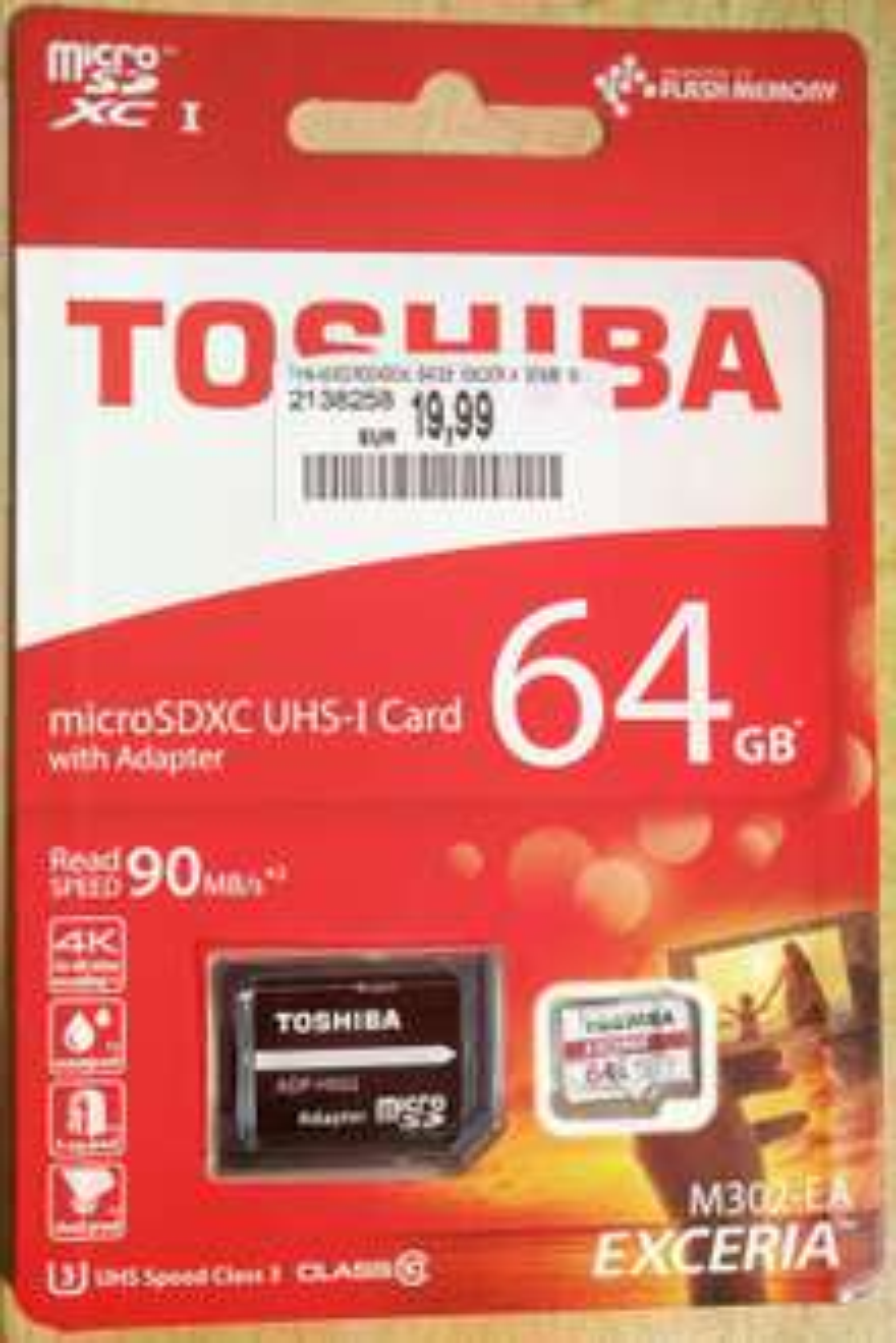 64GB SD-Karte: Toshiba EXCERIA M302 90mb/s readspeed bei Media Markt [offline]