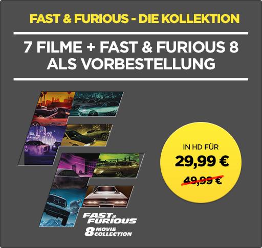 wuaki Fast&Furious 1- 8 in HD