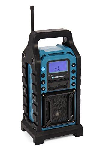 BLAUPUNKT BSR 10 Baustellen-Radio mit PLL-UKW, Bluetooth, USB, SD, AUX-IN, Robustes Gehäuse, Batteriebetrieben blau für 99€ [Amazon]
