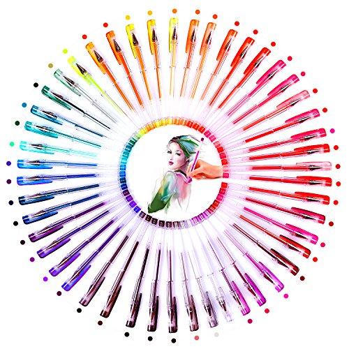 48 Farben gelstifte Set, inkl 24 Glitzer, 24 Glitzer&Neon