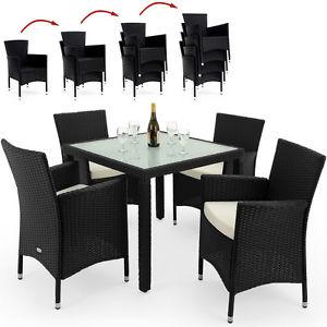 Poly Rattan Sitzgruppe 1+4 für 179,96€ [eBay]