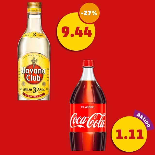 [Penny] 4x Havana 0,7L + 3x Cola 2L