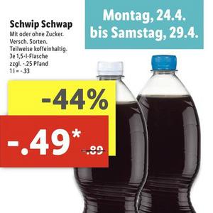 [Lidl] Schwip Schwap versch. Sorten 1,5L für 0,49€