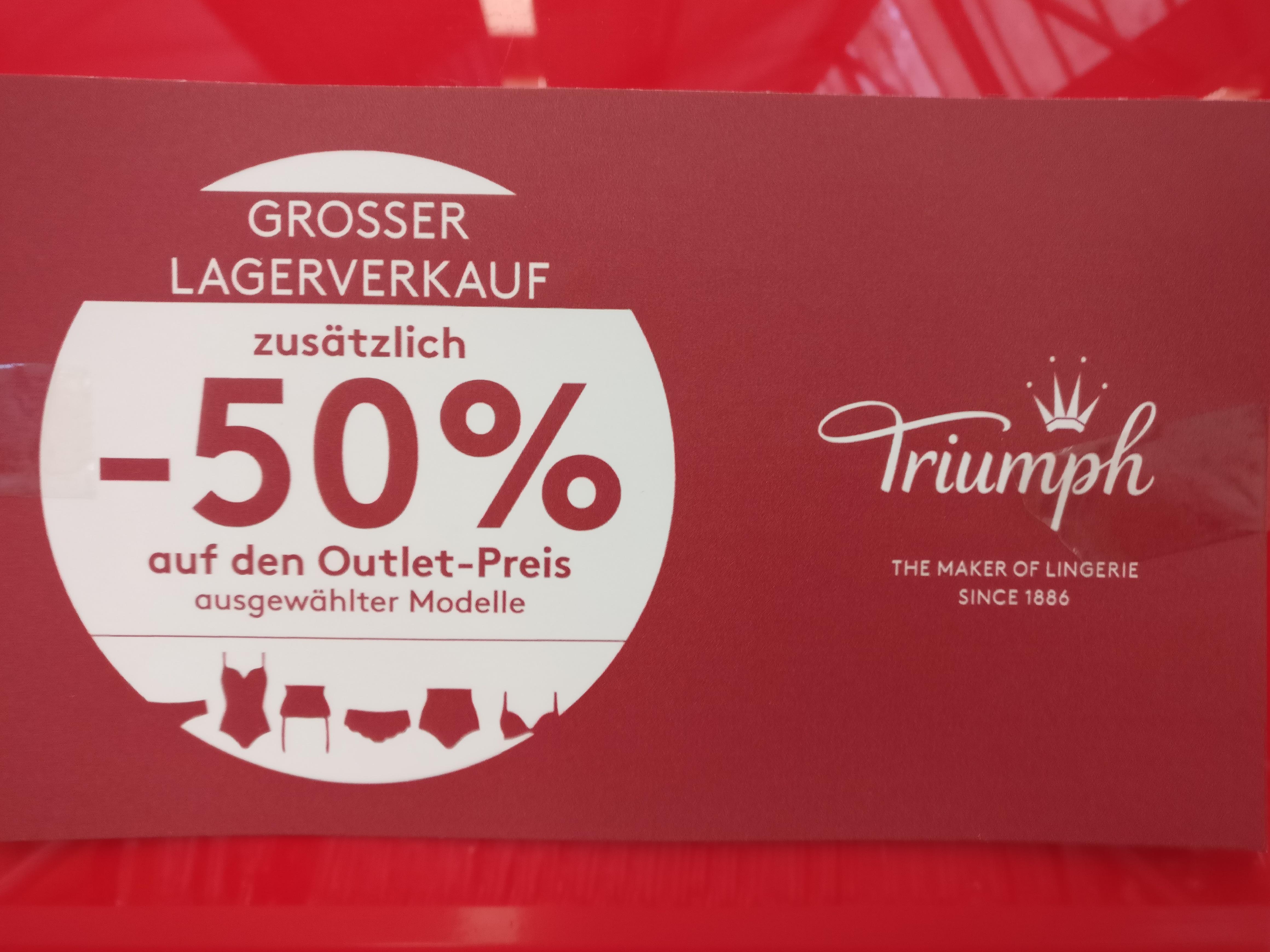[LOKAL] Triumph Outlet AA 50%* auf den Outlet Preis, z.B. Magic Wire BH für 15€ statt 49,95€